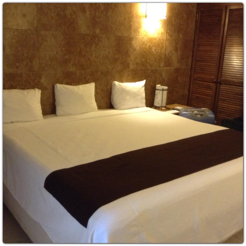 A cama do quarto que eu fiquei