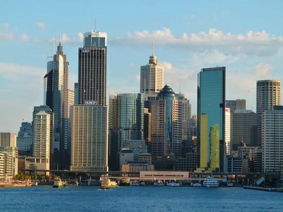 """Uma foto da """"city"""". O centro financeiro/comercial de Sydney"""