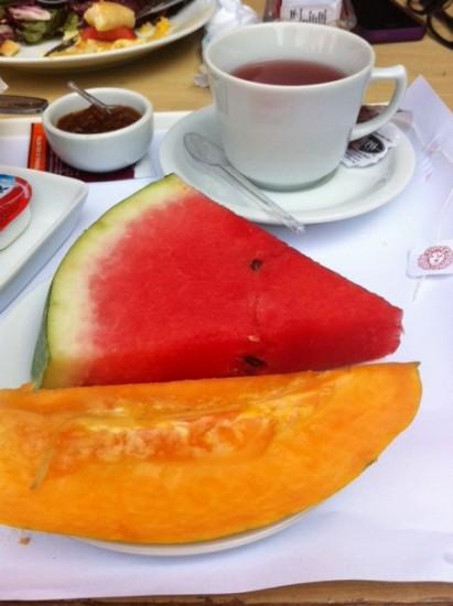 Detalhe das frutas