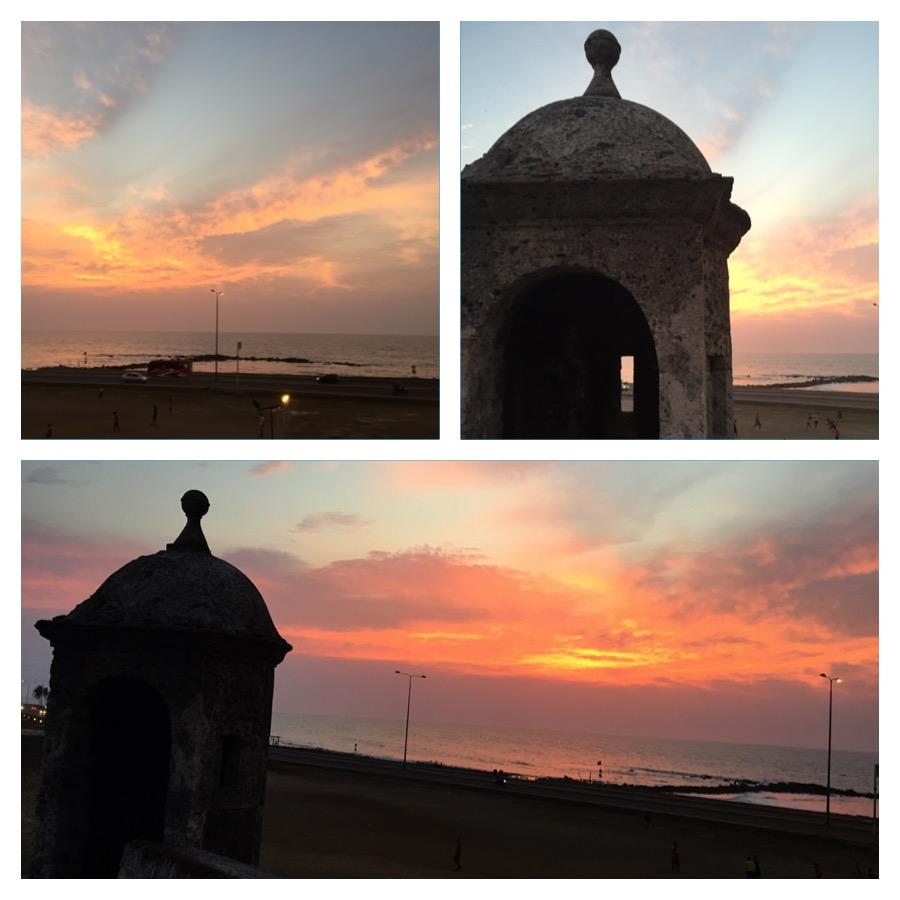 Parada para ver o pôr do sol Cartagena das Indias
