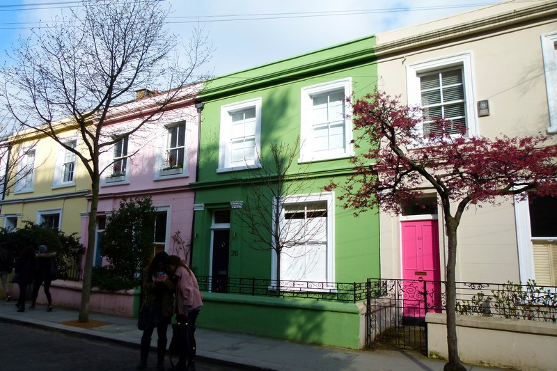 O charmoso bairro de Notting Hill