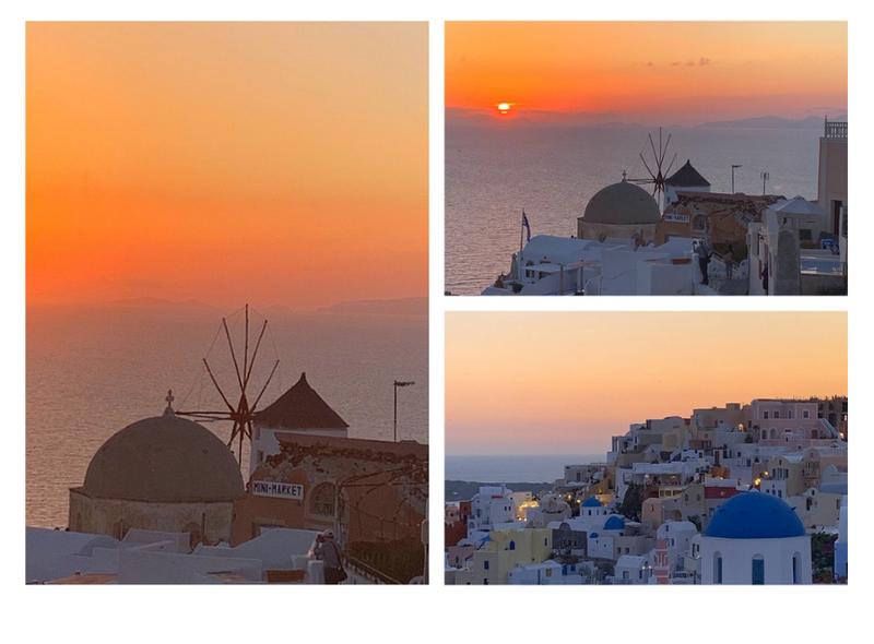 Pôr do sol santorini grécia