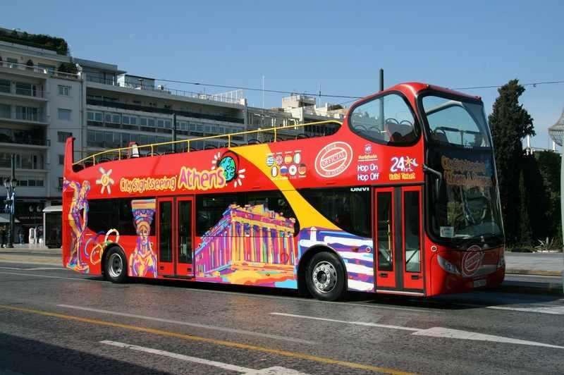 ônibus turístico atenas